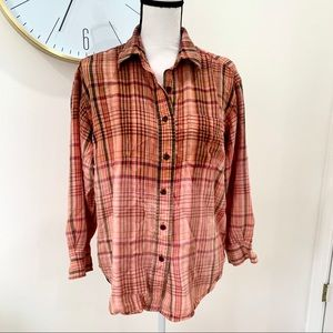 Ralph Lauren Bleach Dipped Flannel
